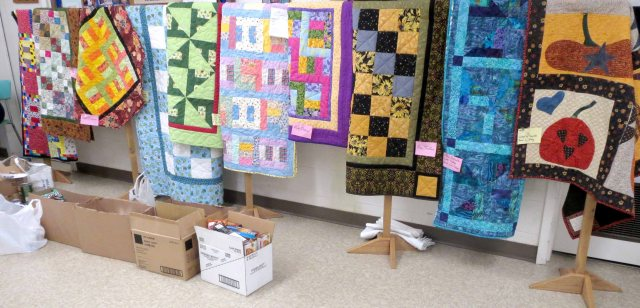 December Community Quilts and Food Bank Donations